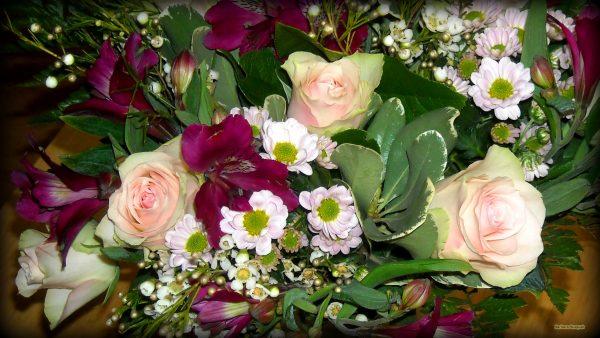HD wallpaper Purple flower bouquet