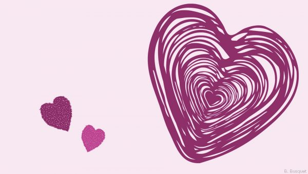 Lilal wallpaper with purple hearts
