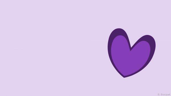 Purple heart at right bottom