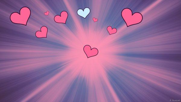 blue pink love wallpaper