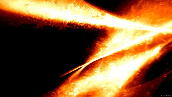 Orange fire wallpaper