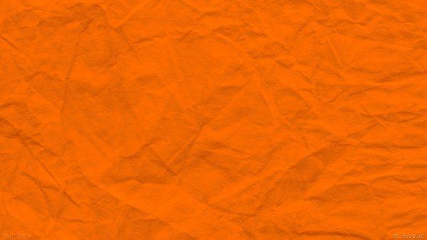 Orange paper with wrinkles