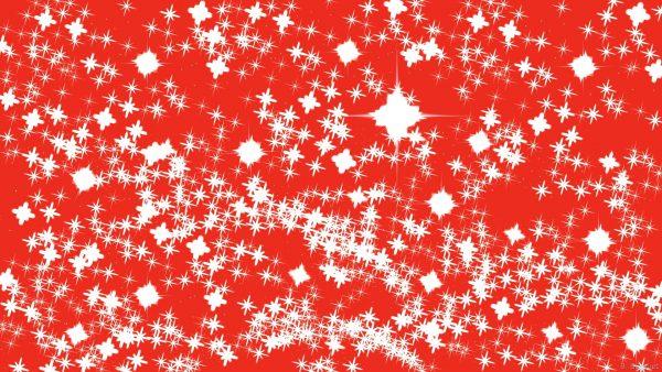 White sparkling stars