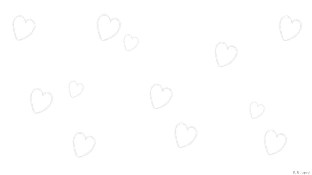 Several light gray hearts
