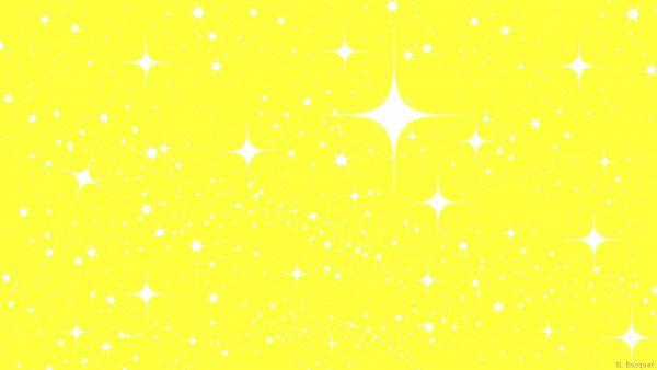 Small and big white stars
