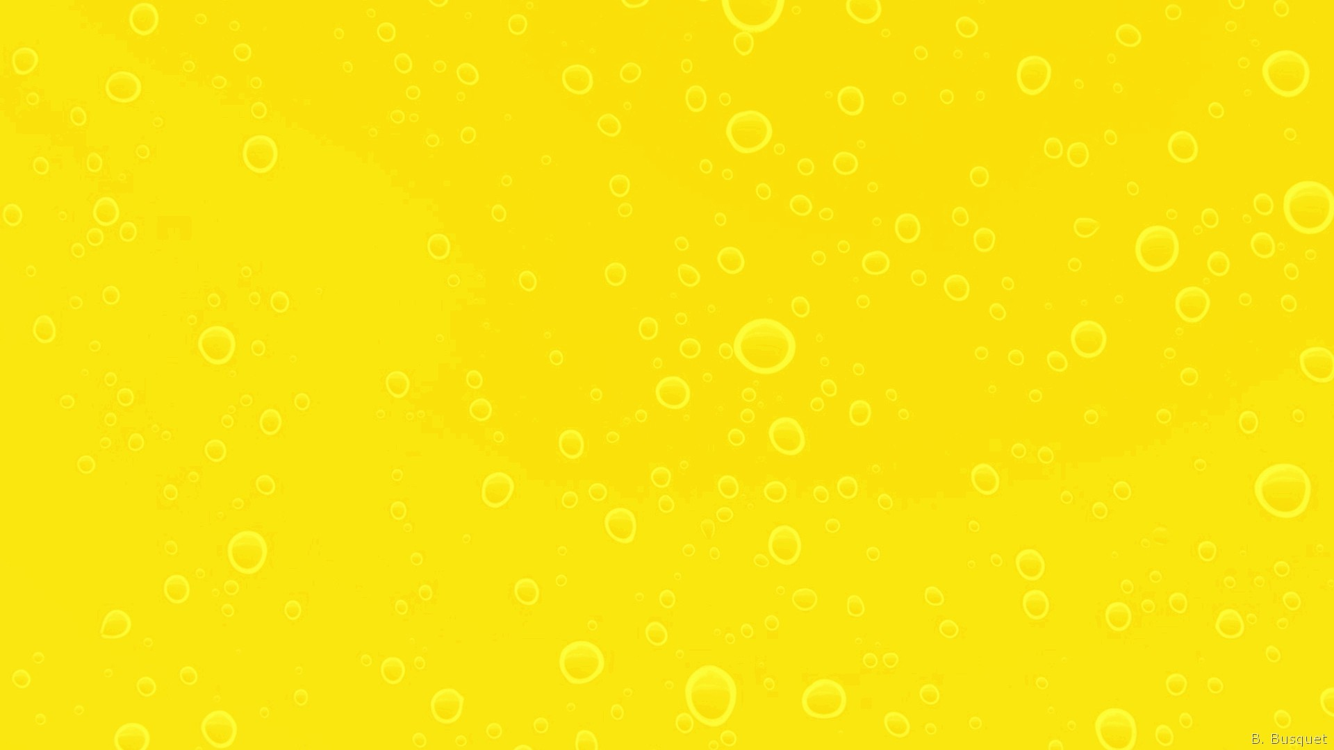 Yellow wallpaper with water drops 1