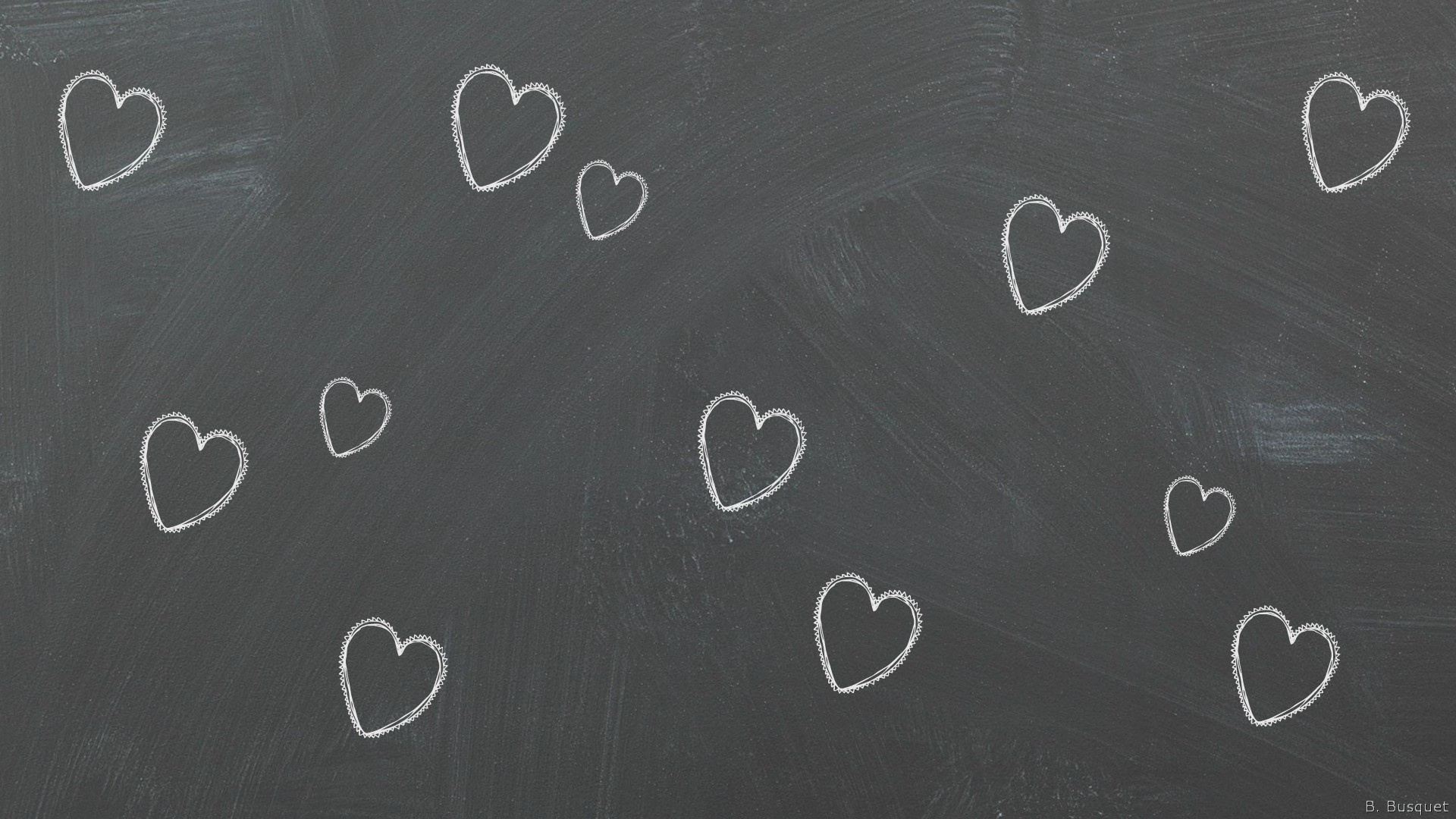 Gray wallpaper with hearts 1