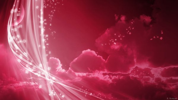 pink abstract wallpaper with clouds