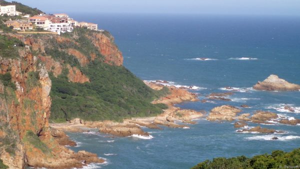 Rocks and sea in South Africa.