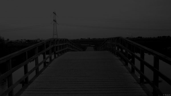 Dark wallpaper with bridge