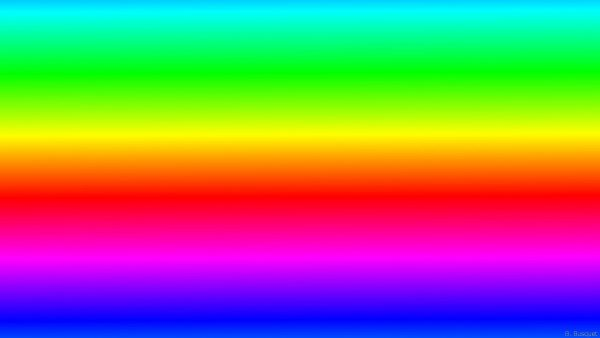 All colors of the rainbow