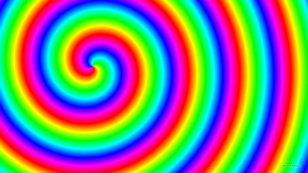 Rainbow spiral wallpaper.