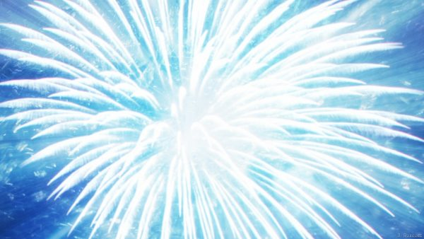 Fireworks on blue background.