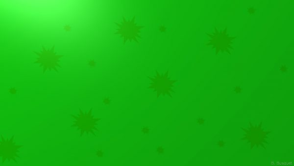 Green wallpaper with stars