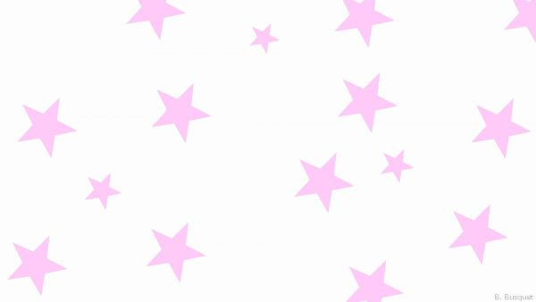 White wallpaper with pink stars
