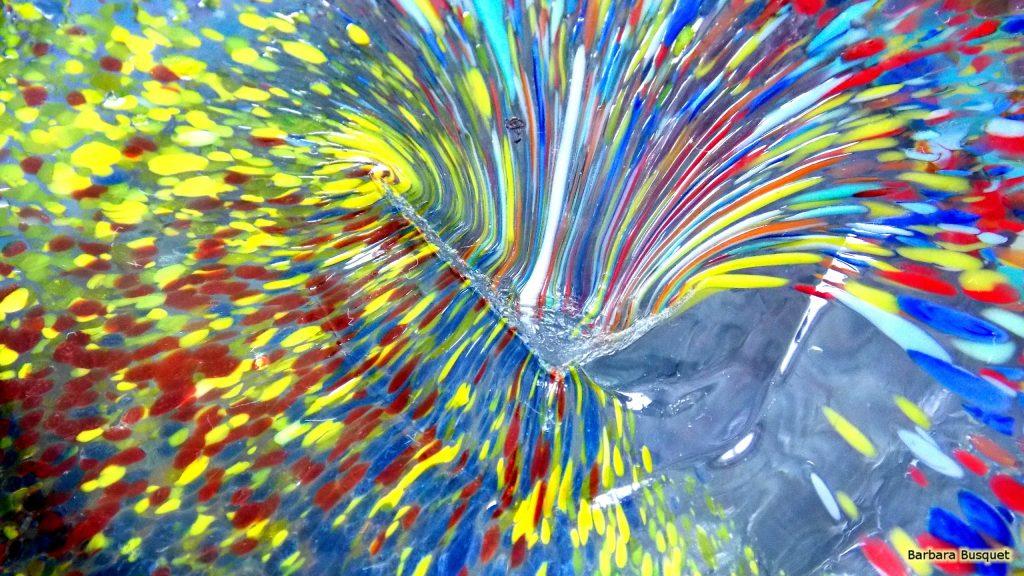 Colorful glass wallpaper