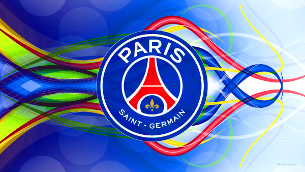 Blue Paris Saint-Germain logo wallpaper.