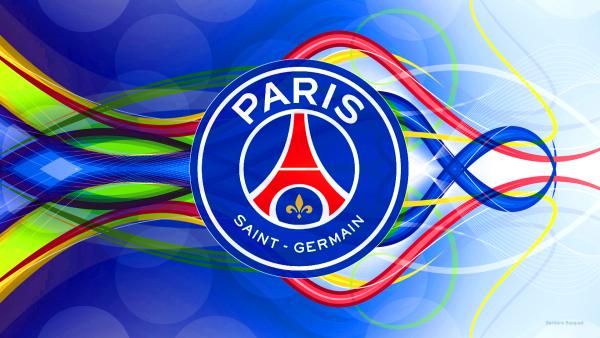 Blue Paris Saint-Germain logo wallpaper.