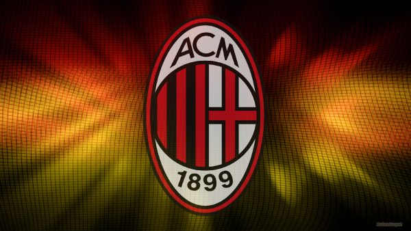 AC MIlan wallpaper in red yellow