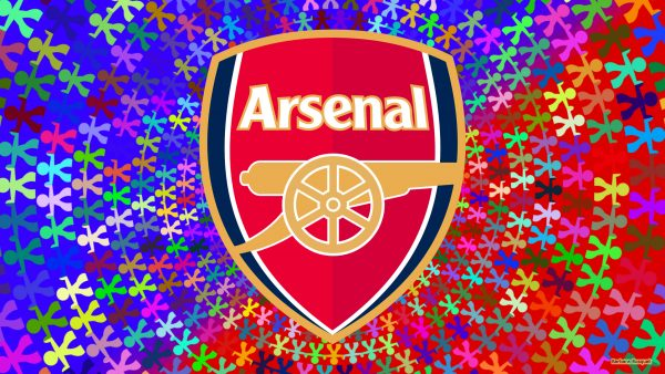 Arsenal wallpaper with people holding hands.