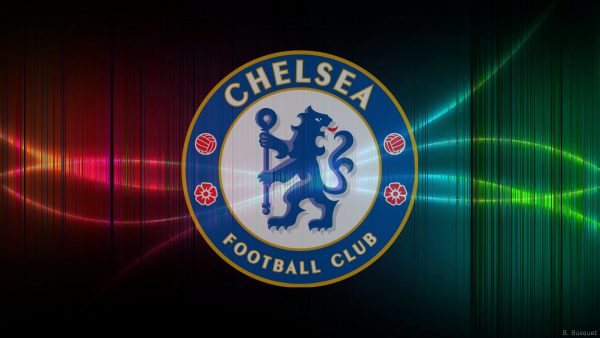 Black Chelsea football wallpaper with vertical lines