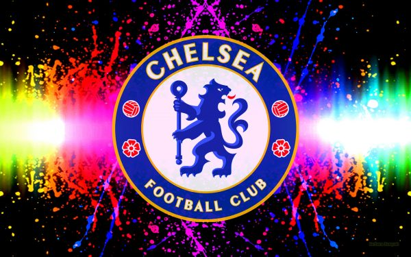 Chelsea wallpaper with colorful paint splashes.