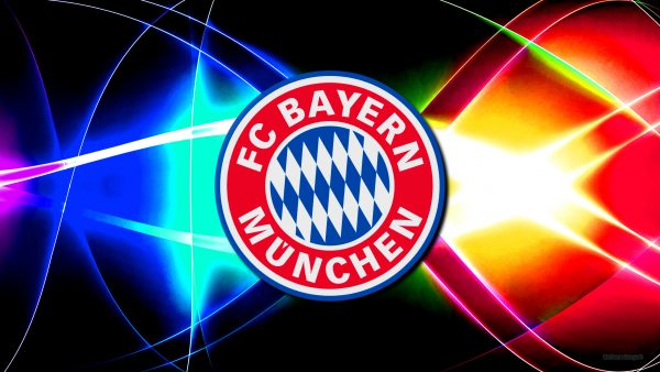 Colorful Bayern Munchen football club wallpaper.
