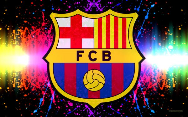 Colorful FC Barcelona wallpaper.