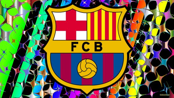 Footbal club Bacelona logo wallpaper.