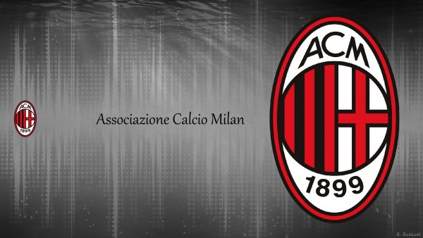 Gray abstract wallpaper of AC Milan