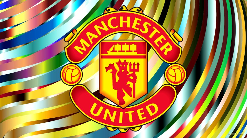 HD wallpaper Manchester United with big logo