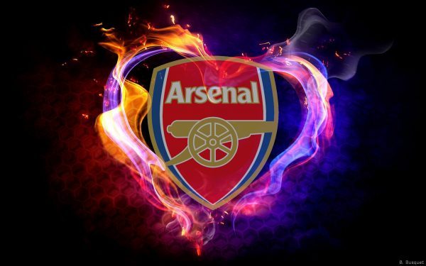 Arsenal wallpaper with flames