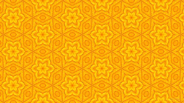 Gold pattern wallpaper with golden flowers