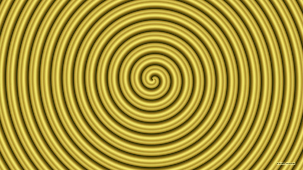 Gold spiral wallpaper.