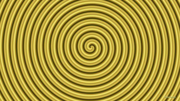 Gold spiral wallpaper.