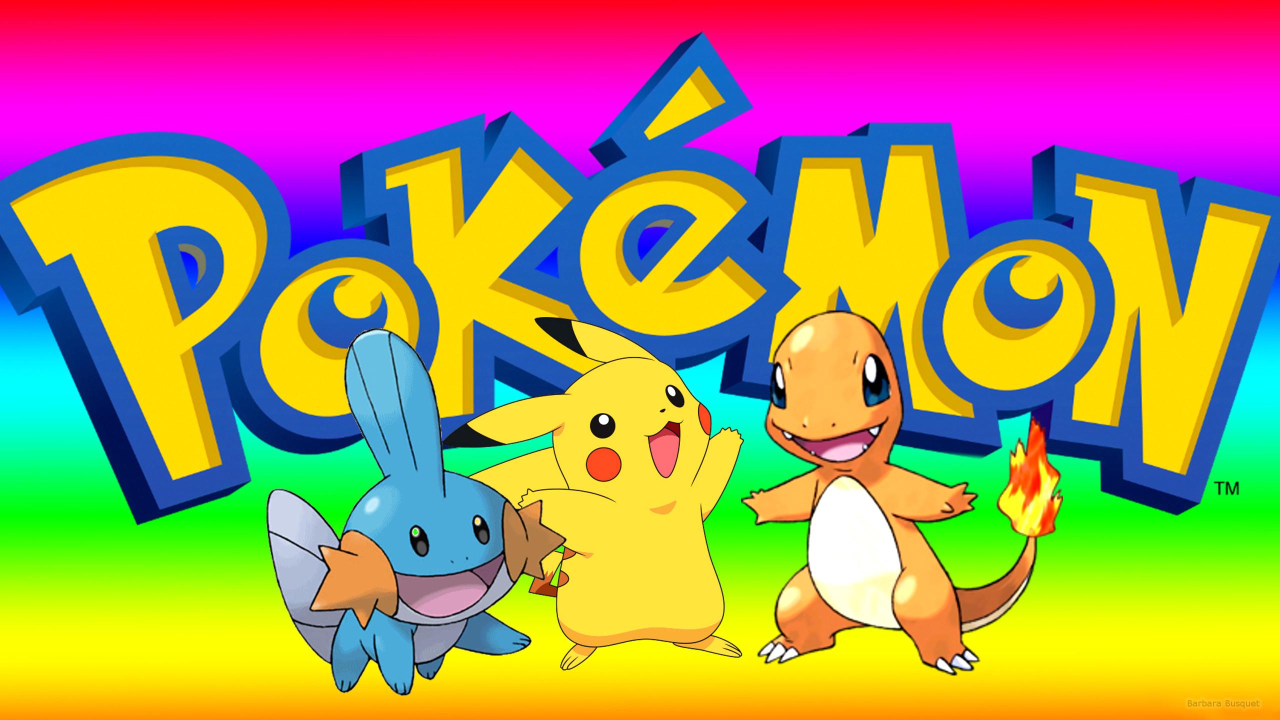 Pokemon Wallpaper With Pikachu Mudkip And Charmander