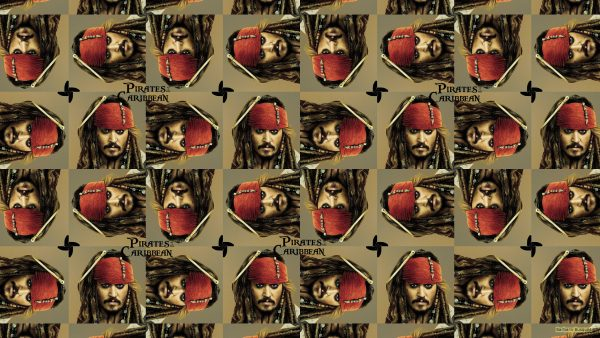 Tiles wallpaper Pirates of the Caribbean with Jack Sparrow