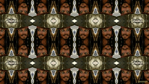 Tiling wallpaper with Jack Sparrow