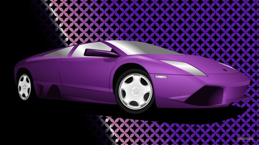 Purple sports car
