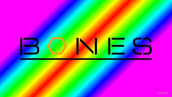 Colorful Bones logo wallpaper.