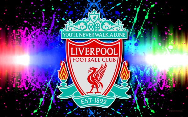 Colorful Liverpool football club wallpaper.