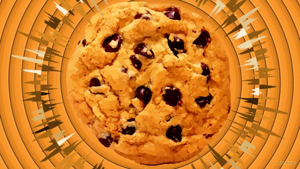 Food wallpaper chocolate chip cookie.