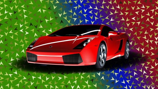 HD wallpaper red sports car