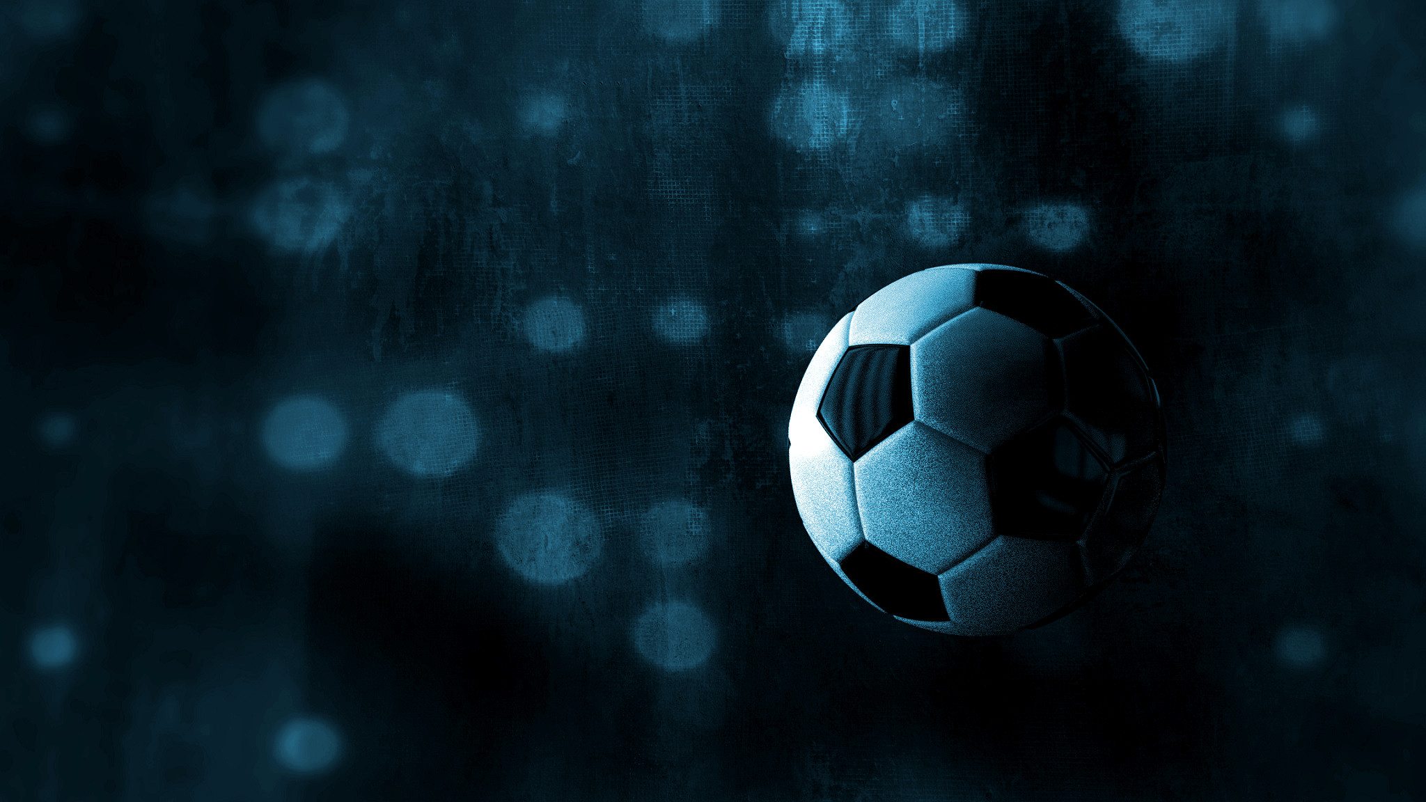 Black wallpaper with a football.