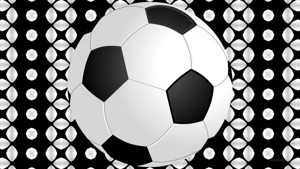 Black white wallpaper with football