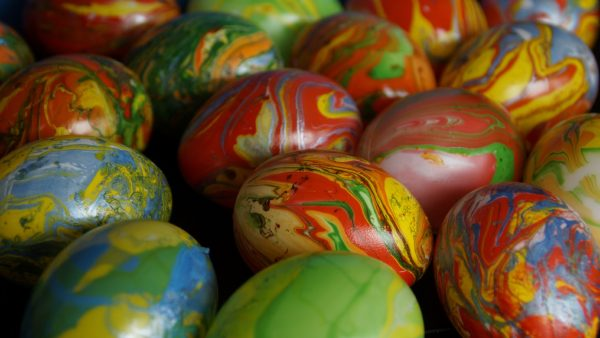 HD wallpaper colored Easter eggs