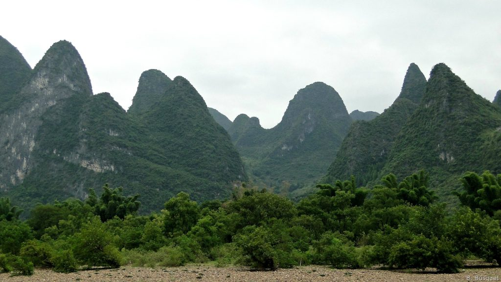 Green mountains in China