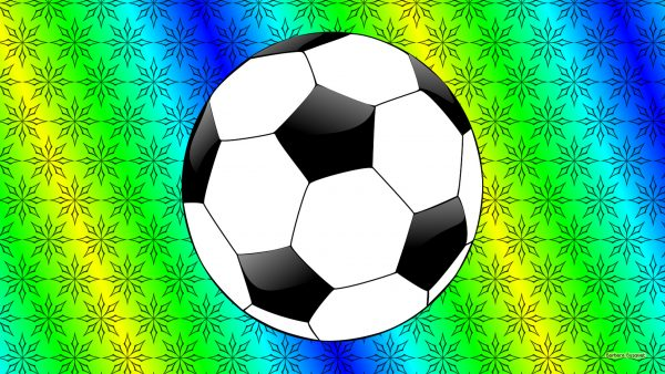 Sports HD wallpaper with a football