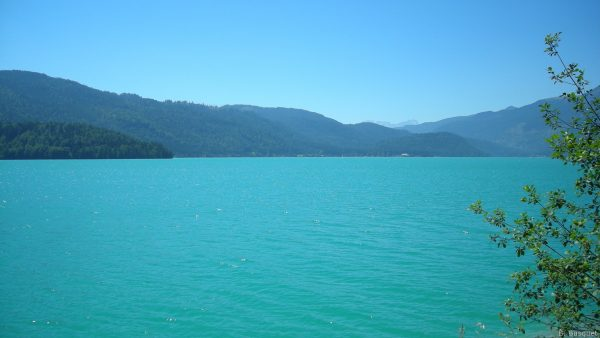 Blue green lake in Germany