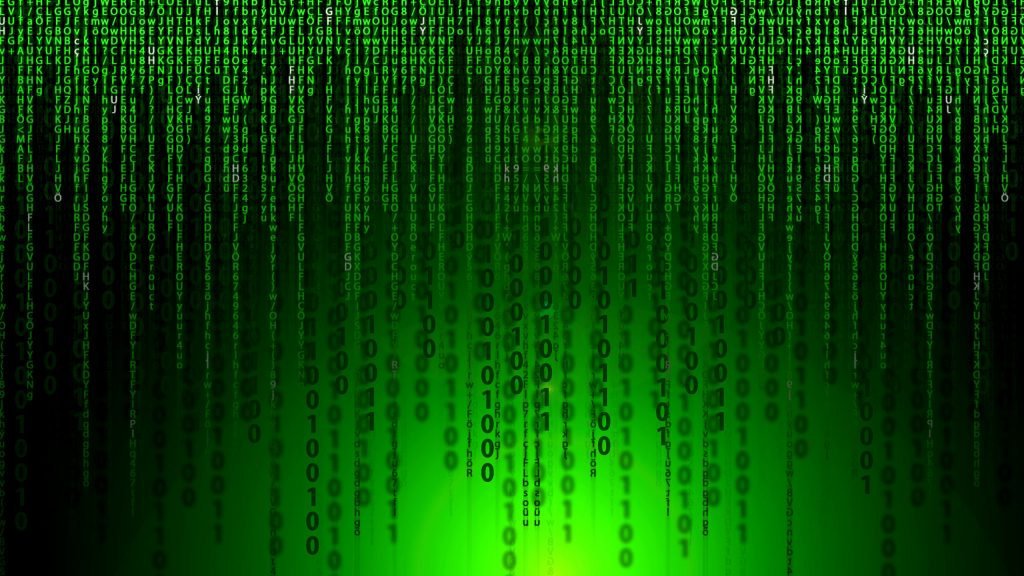 Black green Matrix movie wallpaper.